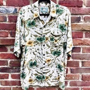 HANA BAY Hawaiian W/ Speckled Wood Button Shirt